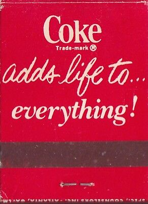 """Vintage Coca Cola  matches """"COKE adds life"""" unused complete 1976 42 yrs old"""