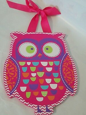 Owl Decor Girls Room Hanging Pink