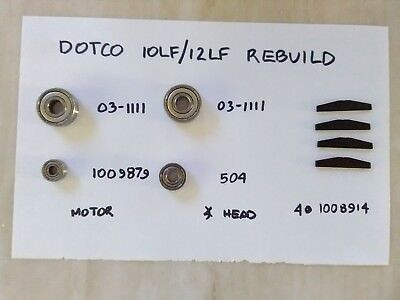 DOTCO rebuild kit (bearings/rotor blades) for models 10LF & 12LF angle grinders