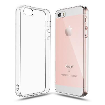 Silicone Rubber Soft TPU Clear Back Case Cover For iPhone 5 5s 5c SE