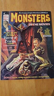 monsters of the movies #7. 1975 Dracula. Peter cushing /christopher lee
