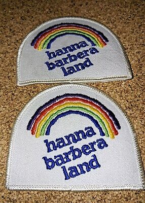 Vintage Hanna Barbera Land Patch Lot Of Two