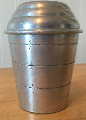 Vintage Mirro  USA Aluminum Gravy Shaker Mixer Cup W/Lid 2623M Measuring Cup