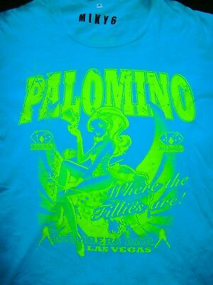 PALOMINO CLUB LAS VEGAS MEMBERS Logo T-Shirt FULL NUDE CASINO Paradise City USA