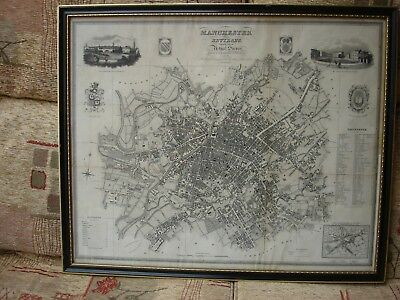 Framed Map - Manchester & Environs