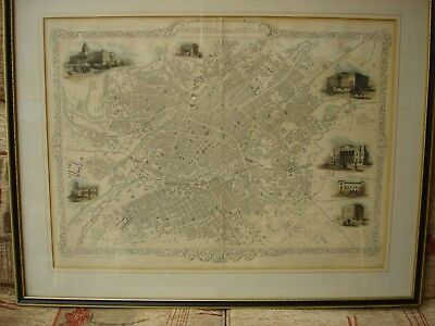 Framed Print - Map  of Manchester