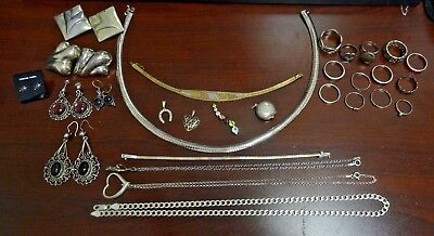 Large Mixed Lot of Sterling Silver Jewelry.  Not Scrap!