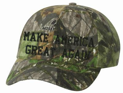 Make America Great Again Mossy Oak Obsession MAGA Donald Trump Adjustable Cap