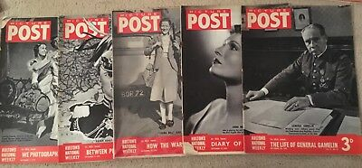 5 x Picture Post Magazines September 1939