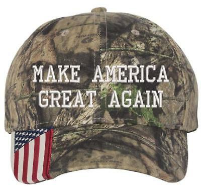 Make America Great Again USA Brim Mossy Oak Adjustable Donald Trump MAGA Hat