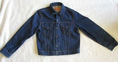 LEVI's Vintage Type III Trucker Jacket Size 42, 1967-1968 Crossover,Big E tag.