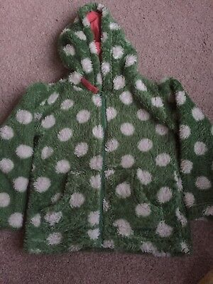 Marks and Spencer girls fleece top, 18-24 months, green with white spots