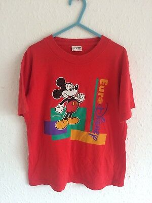 Vintage Euro Disney Land Paris 90s  Graphic T Shirt Novelty Mickey Mouse 3-4-5 Y