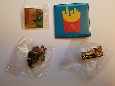 LOT OF (4) McDonald's COLLECTABLE Lapel Pin