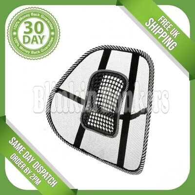 Mesh Lower Back Lumbar Posture Support Pain Relief Help Cushion Car Office Seat