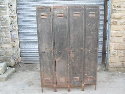 Set Of 4 Vintage Lockers