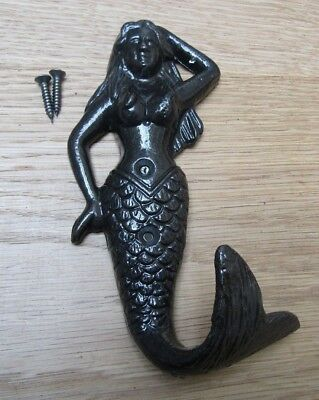 MERMAID -Ornate decorative fancy bedroom coat hook hanging hook