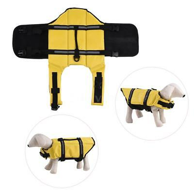 Pets Dog Life Jacket Buoyant Secure Float Vest Outdoor Water Swimming H6W7