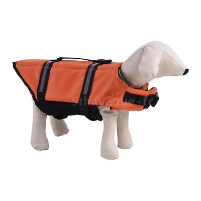 Pets Dog Life Jacket Buoyant Secure Float Vest Outdoor Water Swimming K9G8