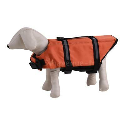 Pets Dog Life Jacket Buoyant Secure Float Vest Outdoor Water Swimming N6R7