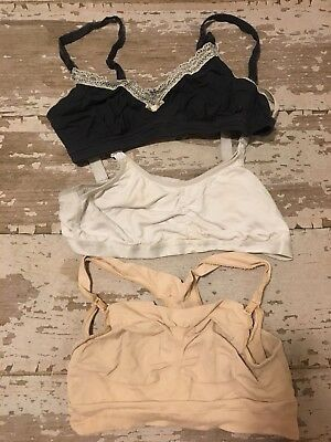 NURSING BRA LOT OF 3 XLarge 38b 38C Super Comfy Gillian & O'Malley