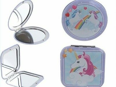 Enchanted Rainbow Unicorn Compact Mirror