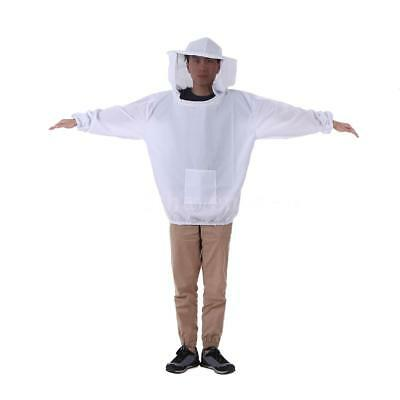 White Beekeeping Jacket Veil Maillot d'apiculture Maillot Maillot de F8O7