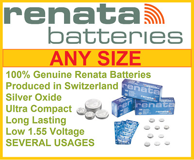 Renata battery batteries Cell Swiss made 1.55v 377 379 Expiry 2020