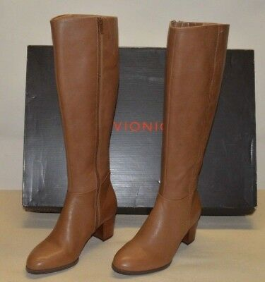 ef6545368bc Vionic Women s PEP Tahlia Tall Knee High Boots 324 Brown Leather US 6 EU 37  New