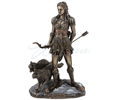Skadi Norse Goddess of Winter, Hunt and Mountains Figurine Statue Sculpture