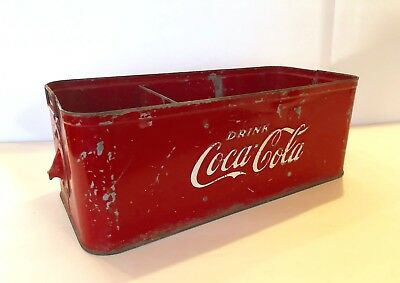 Rare Vintage Original Embossed Coca Cola Stadium Vendor Bottle Carrier