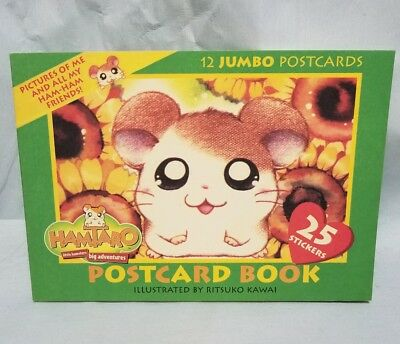 RITSUKO Kawai Hamataro 12 Jumbo Postcards little hamsters big adventures Unused