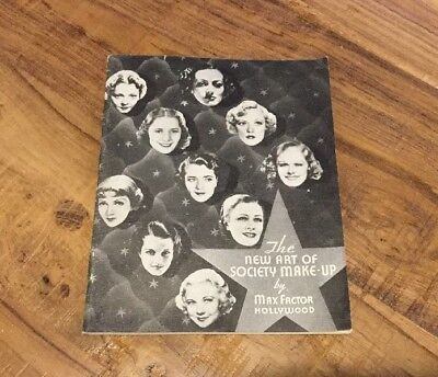 The New Art Of Society Make Up By Max Factor Hollywood 1936 Booklet