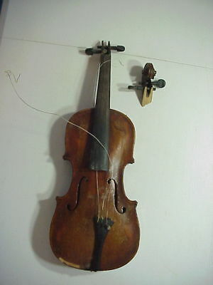 Antique GERMAN VIOLIN with 1 Piece Back Signed HOPF RESTORE OR PARTS