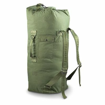 US Military Issue Surplus Top Loading Duffle Duffel Bag w Straps Barely Used