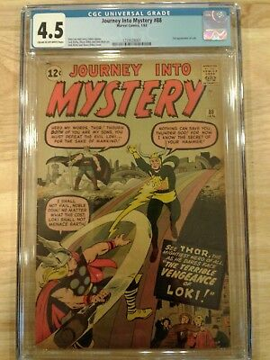 Journey into Mystery #88 CGC 4.5 Cream to Off-White Pages 2nd Appearance of Loki