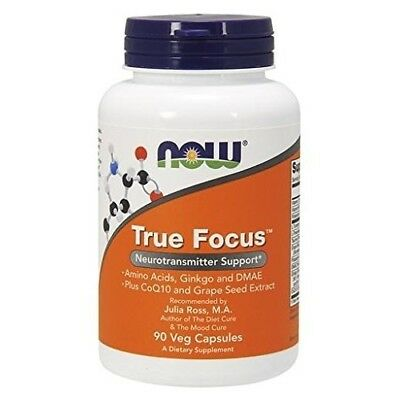 NOW True Focus,90 Veg Capsules Social Aid Energy Stress Brain Boost Supplements