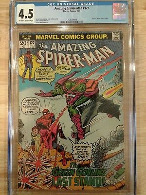 Amazing Spider-Man #122 CGC 4.5 Off-White to White Pages Green Goblin Death