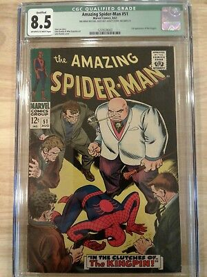The Amazing Spider-Man #51 CGC 8.5 Qualified Off-White to White Page 2nd Kingpin