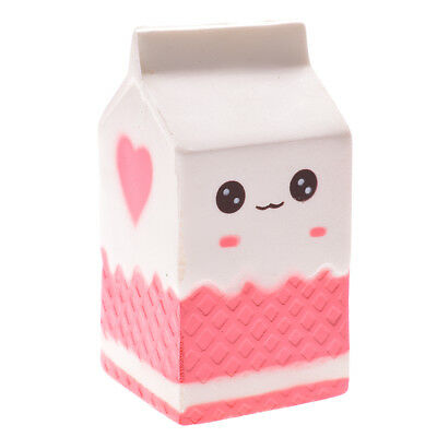 Carton Soft Milk Squishy Phone Straps Slow Rising Stress Reliever Bread Kid Toy