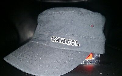 KANGOL AUTHENTIC MENS Flexfit Cotton Till Army Cap Hat. Black. Sz. M ... b7ff6d987df3