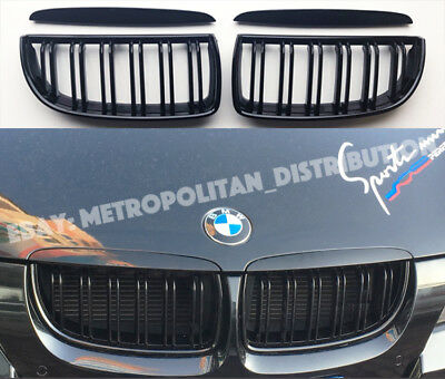 BMW 3,2005-08,E90/E91,saloon/estate,dual/double slat M4M3 look grill,Gloss Black
