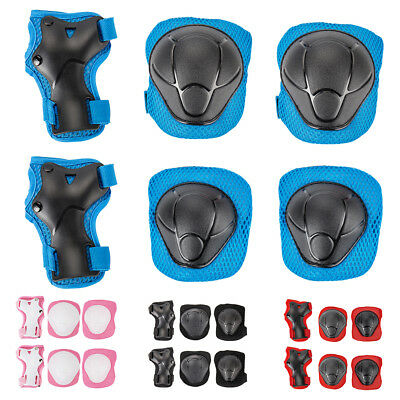 Skate Child Protection - Elbow Pads, Knee Pads, Wrist-Brace Guards - 6 Piece Au