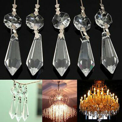 10 clear chandelier glass crystals lamp prisms parts hanging drops clear crystals chandelier glass lamp prisms parts hanging drops pendants 38mm aloadofball Choice Image
