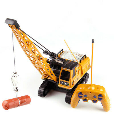 Remote Control Crane Truck Construction Tractor Caterpillar Vehicle Car Kids Toy
