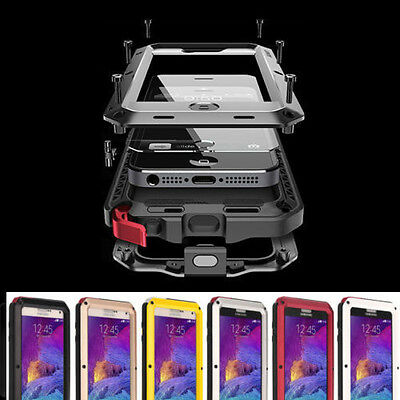 Aluminum Shockproof Waterproof Metal Cover Case For Samsung Galaxy S9 S8 Plus S7