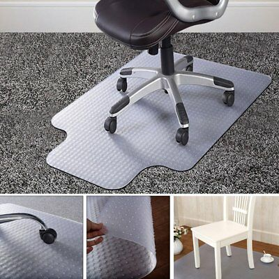 90X120cm PVC Floor Mat Home Office Chair Studded Back with Lip for Pile Carpet A