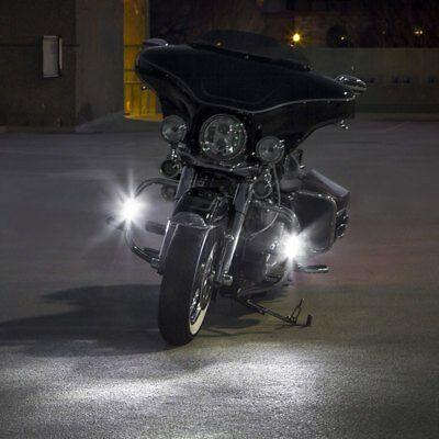 6000K LED Auxiliary Lamps Lights for Harley-Davidson Street Glide (all years)