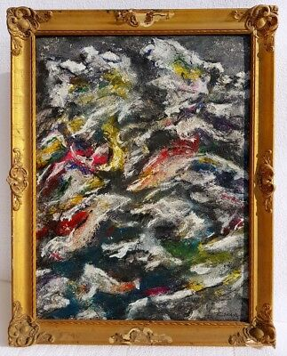 ZAO WOU-KI signed oil painting   Zhao Wuji Chinese - French abstract landscape