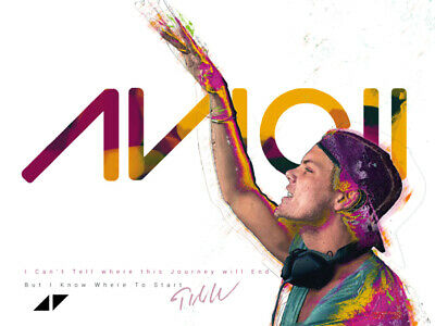 Avicii Poster I Can't Tell Where This Journey Will End Music Art Print (24x18)
